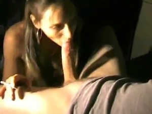Blowjob while smoking