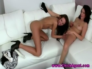 Eurosex models eat pussy during an audition free