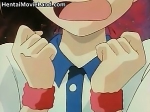 Five anime schoolgirls have fun sucking part5
