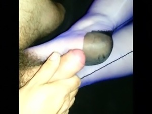Nylon foot job