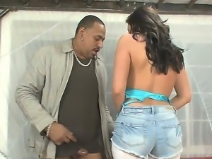 Kelly Divine is giving black stud a heavenly face sitting after she had...