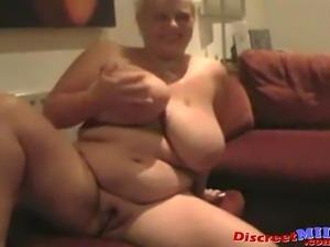 Very big older slut showing her huge tits