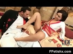 Wild Naughty Gal In Alluring Foot Fetish Fetish Porn