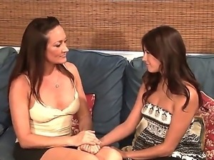Cute young teeny with perfect body is trying her first lesbian sex with...