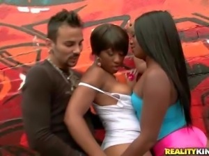Imani Rose and Coco are two really arousing ebony babes
