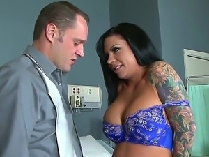 The gorgeous brunette pornstar Mason Moore makes a perfect blowjob to the...