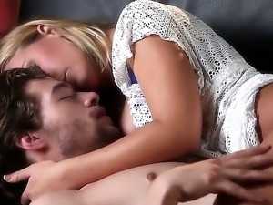 Superb blonde Nicole Aniston enjoys deepthroating and hard fucking Xander...