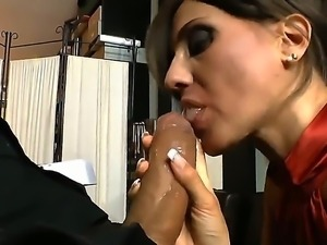 Omar Galanti gets a very sweet blowjob from a horny bitch named Silvia Bianco