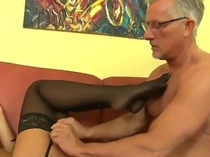 Mature man Christoph Clark gets his dick appeased by elegant Valentina...