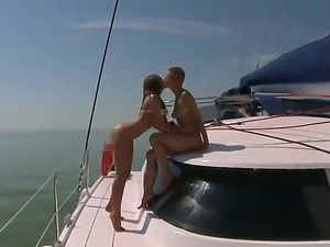 Welcome to the yacht with two nice and codding lesbian whores Debbie White...