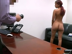 Julissa James came on a casting to show her precious forms and to swallow a cock