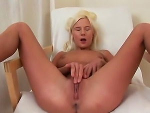 Naughty bitch Alexa shows her sexy body and masturbates with the fingers