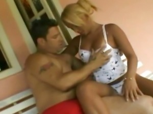 Mature Blonde Shemale Rides Hot