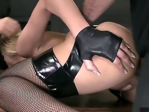 Prison warden Chary Kiss stimulates her subordinates with a great evening fuck