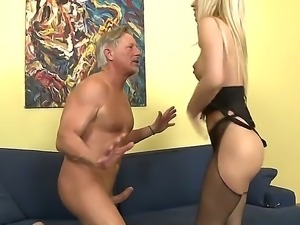 Ravishing blonde babe enjoys as her ass is licked and moans as she is...