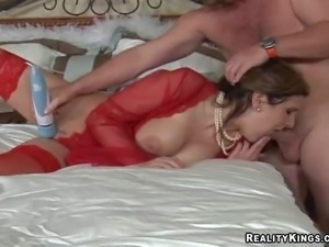Attractive brunette milf with big delicious ass and enormous juicy