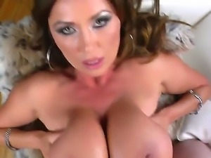 Busty Kiana Dior pleases hunk Joni Darkko with amazing tits job and deep fuck...