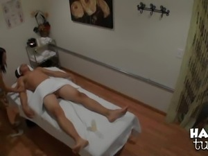 Celia Vi is a nice asian masseuse. She takes off