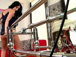 The remarkable brunette Jessyka Swan sucks her lovely dildo so thoroughly and...