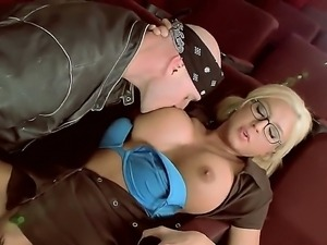 Blonde with huge tits and sexy ass Leya Falcon gets hard pounded by stud...