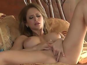 Horny Emily Addison masturbates at morning, because she likes to start her...