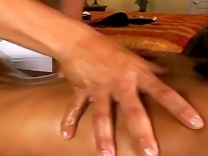 Hot brunette Jenaveve Jolie gets a very nice and sexy massage from Ramon Nomar