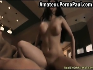 Hot girlfriend rides cock