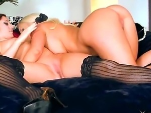 when sexy blonde babe Molly Cavalli gets a scent of a woman, anything can...