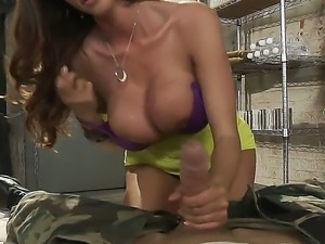 Ariella Ferrera really enjoys playing with erected dong of Johnny Sins