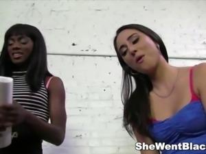 Cute Brunette Rachel Rose fucked by a Black Dick