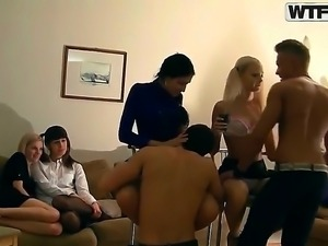Kamila,Marya,Sveta and Tanata are having a wild orgy after ending their exams...