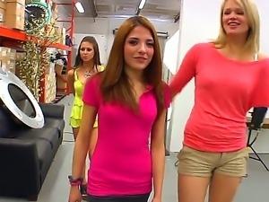 Three hot girls Evilyn Fierce, Heather Starlet, Rachel Roxxx and a crazy action