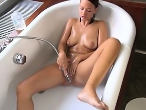 Gaping and gyno toying her sweet hole