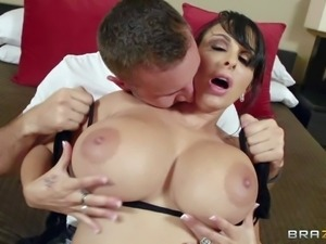 Holly Halston is a gorgeous milf with massive melons. Her perfect monster...