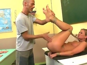 Dorina Gold is a teacher in the local school and she loves to end her workday...