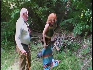 grandma goes wild on grandpa's cock