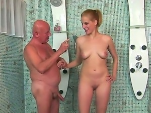 Crazy fuck with a passionate babe named Laraan and her old fucker