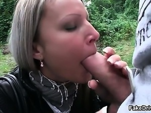 Hot blonde slut from FakeTaxi goes crazy part6