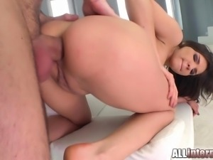 Meet Henessy the adorable Russian. She does an anal milk squirting session...