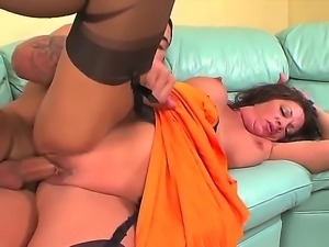 Long haired mature whore Margo Sullivan with big tits and good looking body...