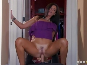 Tall slim brunette India Summer is a super sexy milf.