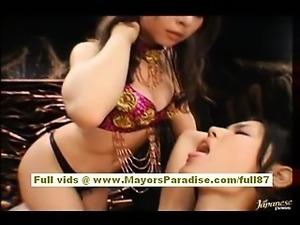 Maria Ozawa and Yuki Osawa Asian dolls playing and licking pussy