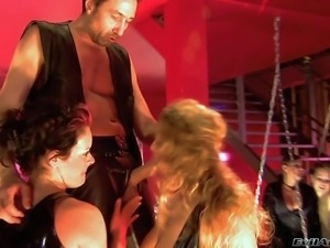 Chris Charming makes a hot arousing group sex session with all of his working...