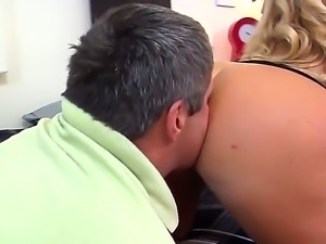 Dirk Huge, Jimmy Broadway, Karen Fisher love to get nasty. This blonde milf...