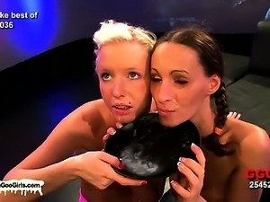 Two hot nymphos getting banged