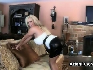 Busty blonde milf gets horny showing off