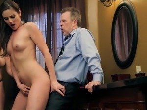 lucky guy fucks two milf pornstars