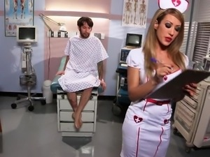 nurse getting dirty with her patient