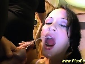 Piss loving fetish slut