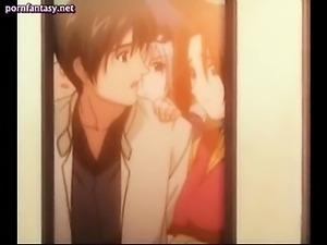 Hentai girl enjoys clit rubbing